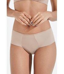 calcinha básica com lateral dupla mondress lingerie bege