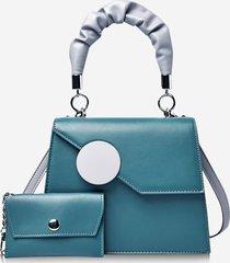 geometric pattern coin bag pendant handbag