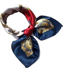 lenço de seda artestore estampa luxo tons de feminino