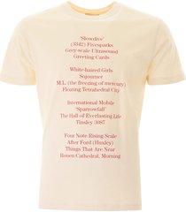 raf simons history of the world print t-shirt