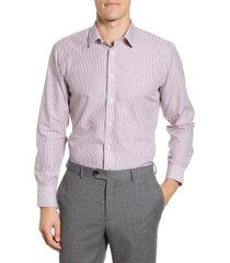 men's the tie bar trim fit stripe dress shirt