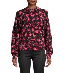 tanya taylor women's emily pow-print top - black pink - size m