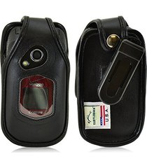 turtleback kyocera duraxv, duraxa flip phone fitted case - made in usa (black le