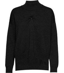 wool knit turtleneck coltrui zwart ganni