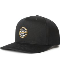 men's brixton oath snapback baseball cap - black