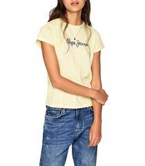 camiseta amarillo-negro pepe jeans