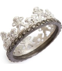 women's armenta old world half crown diamond ring