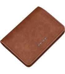 mini billetera/ cartera con cremallera monedero de-marrón