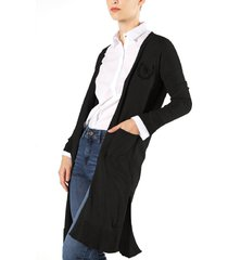 cardigan negro wanama layer sutton iii