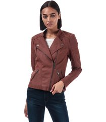 womens ava faux leather jacket