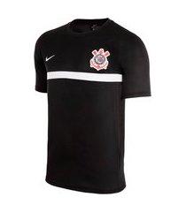 camiseta nike corinthians academy pro masculina