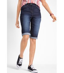 jeans bermuda met comfortband