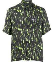 diesel abstract hand patterned shirt - green