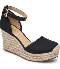 kendrick wedge sandalette med klack espadrilles svart michael kors