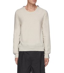contrast panelled knit sweater