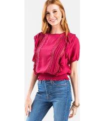 adele crochet top - red