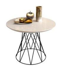 mesa de centro redonda keith pérola
