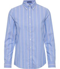 d1. tp striped oxord bd shirt overhemd met lange mouwen blauw gant