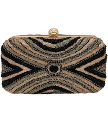 la regale intricate fully beaded minaudiere clutch