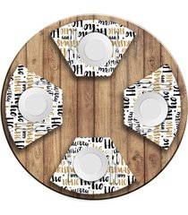 jogo americano   para mesa redonda wevans ho ho ho  love decor