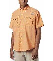 camisa hombre bahama ii manga corta naranja columbia