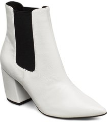 biacandy flared boot shoes boots ankle boots ankle boot - heel vit bianco