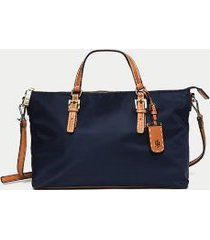 tommy hilfiger women's solid zipper shopping tote tommy navy -