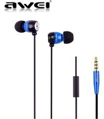 audífonos bluetooth manos libres inalámbricos, awei es-q38i altavoz de aislamiento de ruido de alto rendimiento auricular de sonido claro (azul)