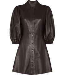 ganni x browns 50 pouf-sleeve mini dress