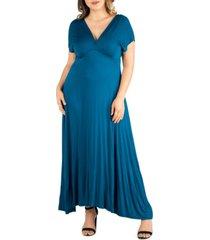 women's plus size empire waist maxi dress