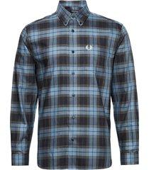 bold tartan shirt skjorta casual blå fred perry