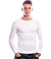 beeren men t-shirt lange mouw wit (3 pack)