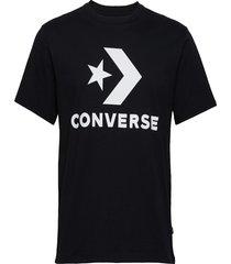 converse star chevron tee t-shirts short-sleeved svart converse