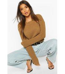 oversized vintage sweater, camel