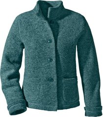korte walkstof jas met bio-katoen, smaragd 44/46