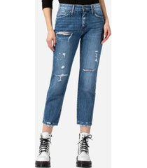 flying monkey high rise distressed rigid boyfriend jeans