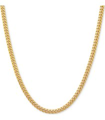 """curb link 18"""" chain necklace in sterling silver or 18k gold-plated over sterling silver"""