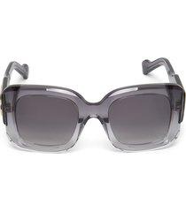 oversized gradient square sunglasses grey