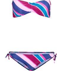 bikini a fascia sostenibile (set 2 pezzi) (blu) - rainbow