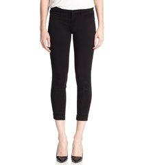 j brand women's luxe sateen anja ankle cuff jeans - black - size 23 (00)