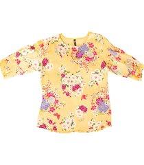 blusa chiffon bolero flores