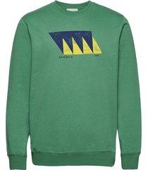 hugh sweatshirt sweat-shirt tröja grön wood wood