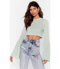 womens flare case scenario crop top - mint