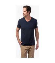 camiseta jab basic gola v stretch azul marinho