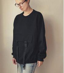 jedna kieszeń czarna obszerna bluza