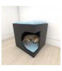 mesa de cabeceira bercinho casinha para cachorro em mdf preto