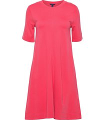 d1. a-line jersey dress knälång klänning rosa gant