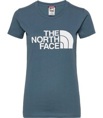w s/s easy tee t-shirts & tops short-sleeved blå the north face