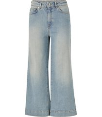 jeans slfgene hw wide crop bair blue jeans