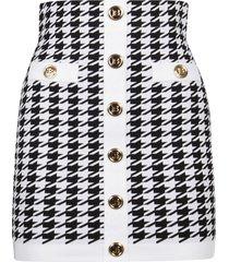 balmain buttoned mini skirt